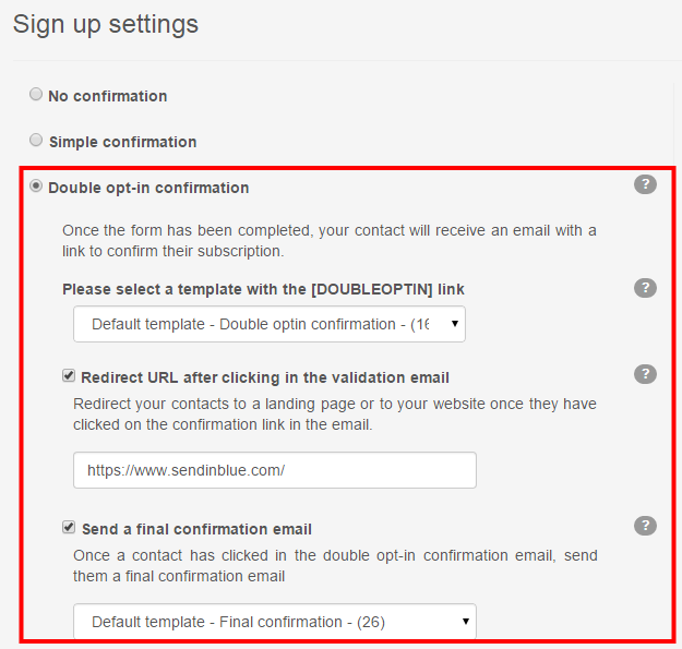 Default Template The Default Template Is Simply Called   Email Signup Template