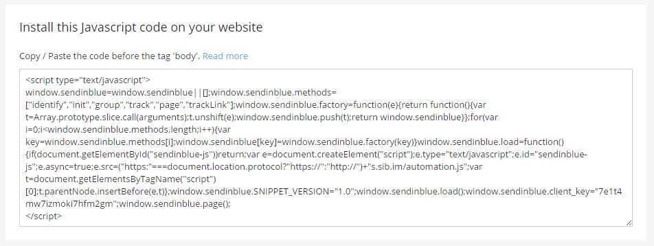 sendinblue automation script