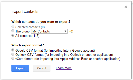 Importing your Gmail/Google contacts into SendinBlue
