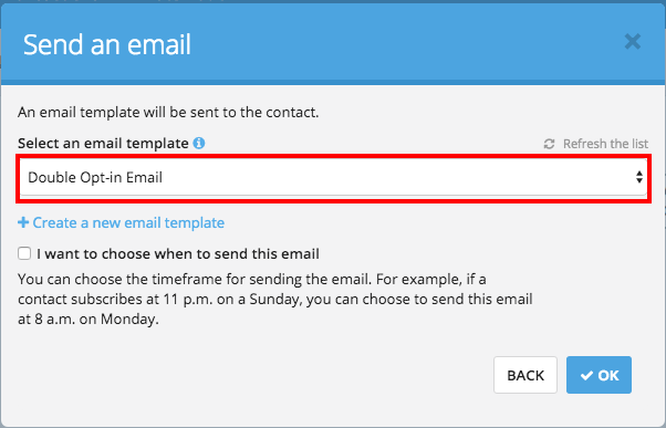 Using Marketing Automation to create a double opt-in